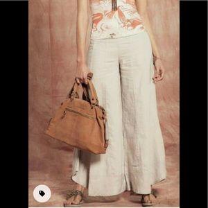 Umbrale basic white super wide leg Palazzo pants